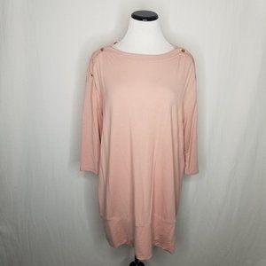 Isabel Maternity by Ingrid & Isabel Sweaters - Maternity LS Snap Shoulder Nursing Sweatshirt